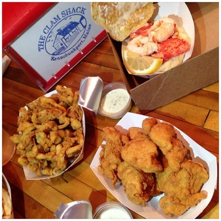 The Clam Shack in Kennebunkport, Maine - the best lobster roll of New England