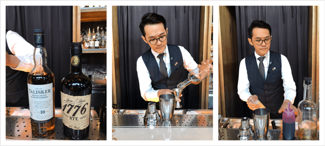 Cocktail at East End bar in Hotel Proverbs Taipei